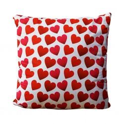 Hearts Printed Cushions 55x55 cm
