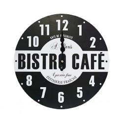 Bistro B/W Clock Square Ref J17-J21