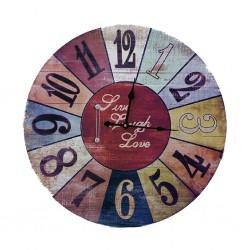 Colour Wheel Clock 55x55cm B1-B15