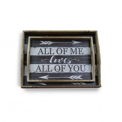 All of Me Wooden Tray 2 pcs B37-B40