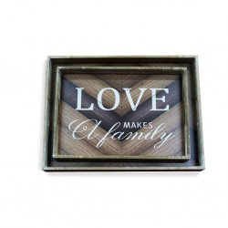 Love Wooden Tray 2 pcs B37-B40