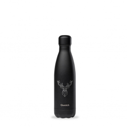 "Qwetch QD3501 Black Cerf 500ml S/S Water Bottle""O"""