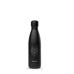 "Qwetch QD3504 Black Loup 500ml S/S Water Bottle""O"""