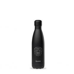 """Qwetch QD3503 Black Lion 500ml S/S Water Bottle""""O"""""""
