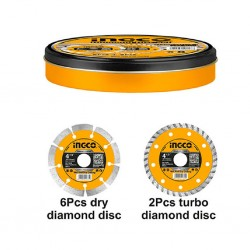 Ingco Dmd301153 Diamond Discs Set (8Pcs/Set)