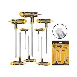 Ingco Hhkt8083 8 Pcs T-Handle Torx Wrench Set