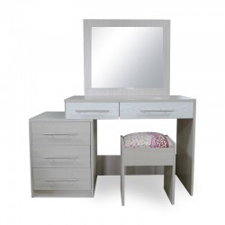 Max Dressing Table With Pouff Melamine