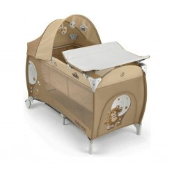 Cam Daily Plus Travel Cot - Bear (Beige/Brown)