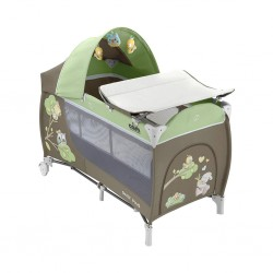 Cam Daily Plus Travel Cot - Owl (Green/Brown)
