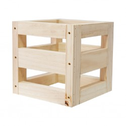 Flower Holder square box Pine Ref  FC251