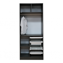 Pax Walk In Closet With Hanger Plywood Sandy Black