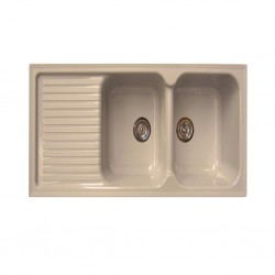 Sintetika (SJTK) Sink Double Bowl With Table Beige Avena