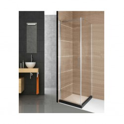Shower Cabin With Frameless Single Door With Hard Plastic Base F259