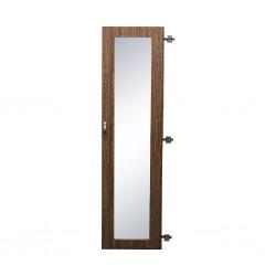 Stockholm Door Mirror Outside 40x162.5 cm  Brown