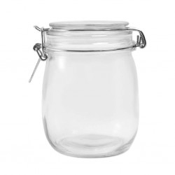 "Zibo Hermetic 6504 1000ml Glass Storage Jar + ""O"""
