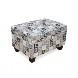 Alps Ottoman Quadrant Grey Colour Fabric