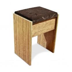Vanitio Pouf Brown Wood MDF