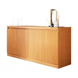 Truzzi 4Drs Sideboard Natural Particle Board