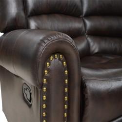 Brenton Corner Leather Gel Brown