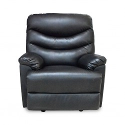 Mayfair One Seater Black Bonded Leather