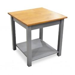 Topazio Side Table Pine Wood Grey Finish