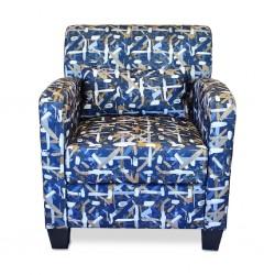 Penington Accent Chair in Fabric Spash Indigo