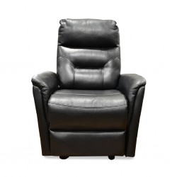 Glide One Seater Black Bonded Leather
