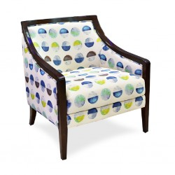 Daphne Accent Chair Mandala Azure Fabric
