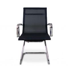 Linea Visitors Chair Chrome Mesh Fabric Model ALU 04