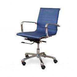 Nelia Medium Back Office Chair Executive Semi Leather  Model ALU 03