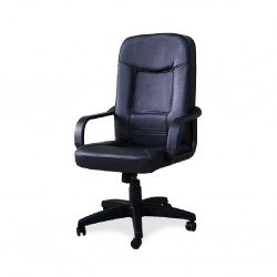 Vetro High Back Office Chair Executive Semi Leather  Model Saphire