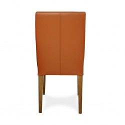 Julia Table and 6 Chairs Rubberwood/Glass