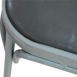 Flavia Chair Grey Colour Seat