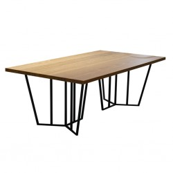 Clyde Coffee Table in MDF Oak Top