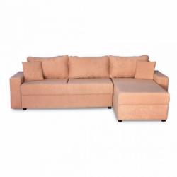 Electron Sofa Corner Beige Fabric RHF Chaise