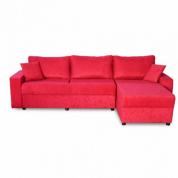Electron Sofa Corner Red Fabric RHF Chaise