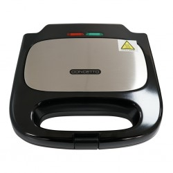 Concetto CST-102 2Slice Black & S/S Sandwich Maker