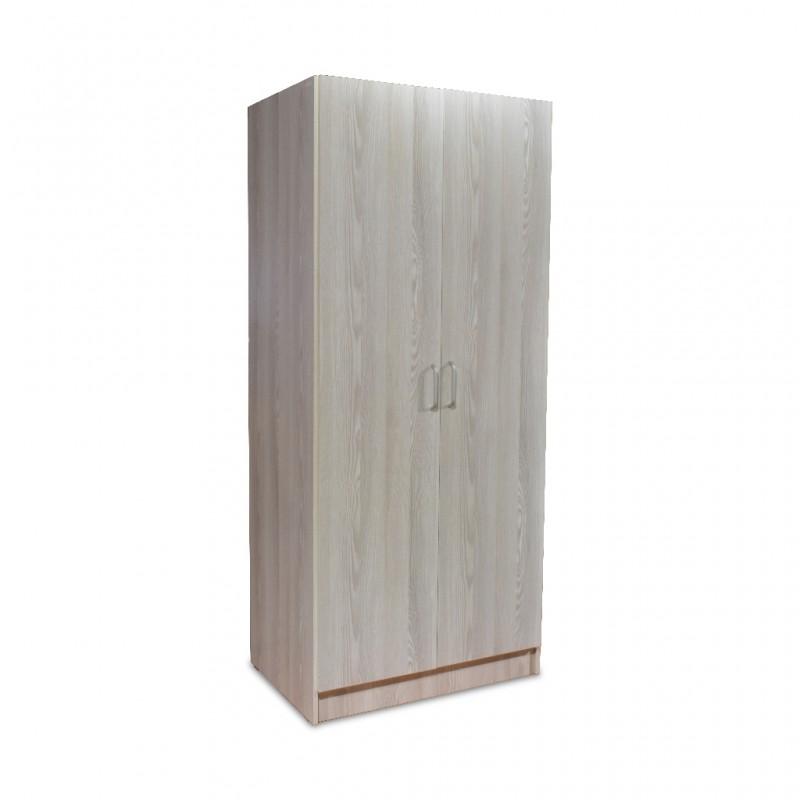 Ace Wardrobe 2 Doors Oak MDF With Shelves