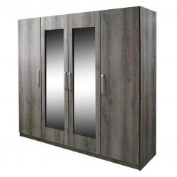 Proper Wardrobe 4 Doors Melamine MDF