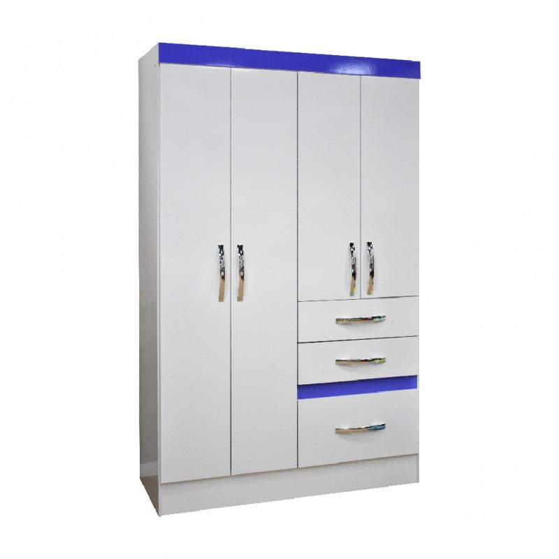 Tamis Wardrobe 4 doors White