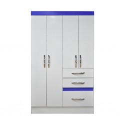 Tamis WardrobTamis Wardrobe 4 Doors White PBe 4 doors White