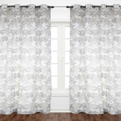 Flowery Grey Curtain 1.40x2.30 - E1-E5 C 22