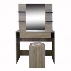 Diego Dressing Table With Pouff Melamine
