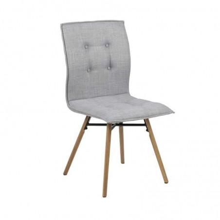 Bessie Chair Grey Metal Fabric