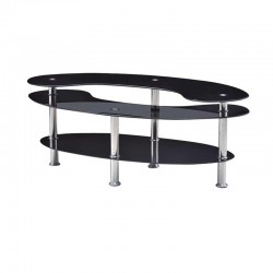 Lane Fiona Coffee Table Black Metal/Glass