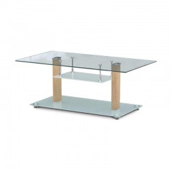 Lane Bali Coffee Table Oak Wood/Glass
