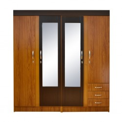 Juliana Wardrobe 4 doors Teak MDF