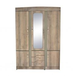 Alpine Wardrobe 3 doors Grey MDF