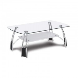 Universal Plumbane Coffee Table Chrome Metal/Glass