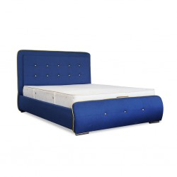 Rome Bed 160x200 cm Blue Fabric
